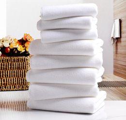 Asciugamani per hotel bianco Asciugamano bianco Asciugamano in microfibra Asciugamano per il viso Asciugamano per la casa Asciugamano per il bagno a mano da