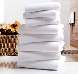 tecidos de toalha de microfibra Desconto Toalha de Toalha de Hotel branco Toalhas de Toalha de Microfibra Macia Branca Toalha de Rosto de Casa Toalhas de Praia de Banho de Cabelo de Mão de Banho de Rosto de Casa