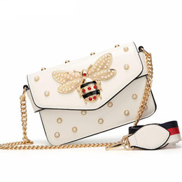 2019 kleine dame tasche Gem Little Bee Frauen Designer Crossbody Taschen Marke Designer Umhängetaschen Kette Luxus Handtaschen Damen Leder Messenger Bags rabatt kleine dame tasche