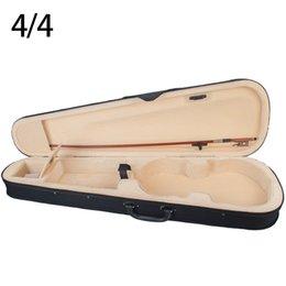 sapos de arco de violino Desconto Violin Case Tamanho Professional forma triangular violino Hard Case Amarelo Dentro violino Parts