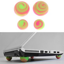 Laptop cooling pads online-Funny Ball Notebook Silicone Cool Ball Laptop Cooling Stand Cooler Ball Pies Patas antideslizantes Patines antideslizantes