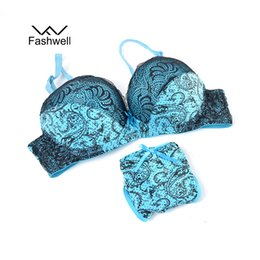 1bf4aa220c China Fashwell Sexy Push Up Lace Women Underwear Panty Set Intimates  Embroidery Floral Women Bra Brief