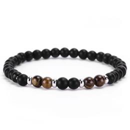 Chakra Pulsera Hombres Negro Lava Curación Perlas de Equilibrio Reiki Buddha Oración Pulsera de Yoga de Piedra Natural Para Mujeres Pulsera de Cuentas de Piedra desde fabricantes