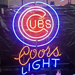 coorisce i display di luce Sconti UBS Coors LIGHT LED Neon Sign Light Outdoor Outdoor Display Intrattenimento Decorazione Glass Neon Light Light Metal Frame 17 '' 20 '' 24 '' 30 ''