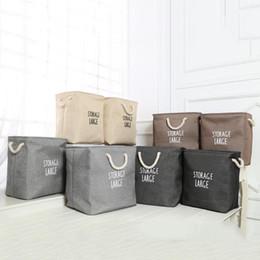 2019 bc box Boîte de rangement de paniers de rangement durable et imperméable à l'eau se pliant dans un sac de rangement pliable en lin de coton portable Boîte de rangement en tissu Jouet Snack BC BH0656-2 bc box pas cher