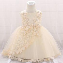 Vestido de princesa de 12 meses online-2019 Baby Girls Dress para niños 3 6 9 12 18 24 meses Flower Baby Party Dresses Print Princess Costume Birthday Dress B6K2A
