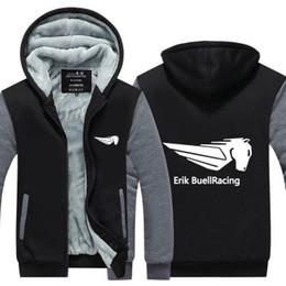 куртка гоночный Скидка 2019 зимняя толстовка с капюшоном erik buell racing EBR мужчины женщины сгущает осень толстовки одежда кофты молния куртка флисовая толстовка уличная одежда