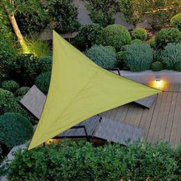 2019 poly sonne Outdoor Schatten Zelt Sonnencreme Wasserdicht Dreieck UV Sonnenschutz Segel Kombination Netz Dreieck Sonnensegel Zelt Camping Garten 3 / 4m Größe rabatt poly sonne