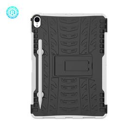 тяжелые перья Скидка 2 в 1 случае шин для iPad Pro 11 2018 Hybrid Combo Robbot Heavy Duty броня прочный TPU + PC обложка Shell жесткий задняя подставка с ручкой подставка кожи