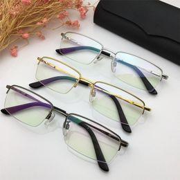 392dc407b82d Rimless Eyeglasses Titanium Australia - 2019 New Luxury Glasses Famous  Retro Designer Semi Rimless Eyeglasses High