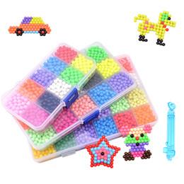 Детские игрушки онлайн-[TOP] 1000 шт. / Компл. Ручной работы из бисера воды развивающие игрушки DIY волшебные бусы головоломки упакованы волшебные воды бусины игрушка девушка подарок