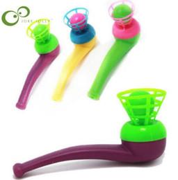 Пластиковые пазлы для младенцев онлайн-Электронные Вокальные Игрушки 1 шт. Творческий детские головоломки пластиковая труба взорван мяч плавающий шар игрушка детские подарок на день рождения LYQ