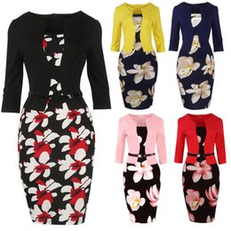 9cd599d78c1 Hot Selling IN STOCK Petal Vestidos 2019 Women Summer Dresses Pencil dress  Bodycon Office ladies dresses Bandage work Elegant S-4XL FS0671 pink office  wear ...