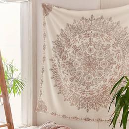 2019 decorações hippie Tapestry Mandala Hippie Bohemian Wall Hanging Flower TAPETE DE PAREDE Hanging Decor para Sala Quarto