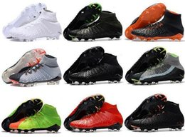 2018 scarpe da calcio da uomo hypervenom Phantom III EA Sports FG scarpe da calcio scarpe da calcio per terreni morbidi economici Rising Fast Pack neymar boots new da