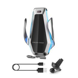 """Carregador de montagem de carro de smartphone on-line-Carregador sem fio 10W Car Qi Infrared Sensor Mount Suporte para 4-6,5"""" Smartphone DXAC"""