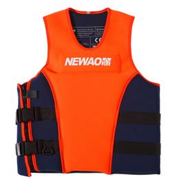 lifesaving armband Rabatt Schwimmen Wassersport Schwimmweste Erwachsene Schwimmweste Neopren Sicherheit Schwimmweste für Wasserski Wakeboard zum Angeln