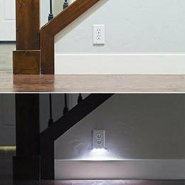 Wholesale Light Sensor Ficha Tampa LED Night Light Anjo Tomada de parede Rosto Corredor Quarto de banho Luz de Segurança