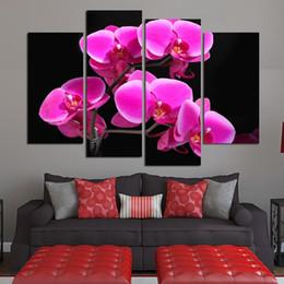 marcos digitales rosa Rebajas Arte moderno lienzo lienzo Cuadro Cuadro 4 Unidades / Pcs Flor Rosa Foto Pintura de Pared HD Sala de estar Decoración Modular Picture Poster