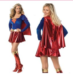 Supergirl Ladies Fancy Dress Dc Fumetto Supereroe TV Da Donna Adulti Costume