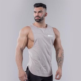 34ac78ff08 Mens Casual Loose Fitness Tank Tops For Male Summer Open Side Sleeveless  Active Muscle Shirts Vest Undershirts Y190506 male sleeveless shirts summer  on sale