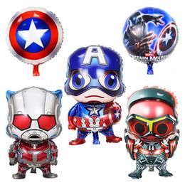 capitão falcão Desconto Vingadores marvel super hero balão capitão américa falcon formiga Homem Aranha Homem De Ferro Hulk Decoração Do Partido Com Bomba Livre