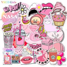 VSCO chicas rosa pegatinas etiqueta engomada del coche a prueba de agua para el refrigerador de equipaje Moto Car Maleta Moda del ordenador portátil 50pcs / bolsa 1 Adv desde fabricantes