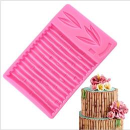 2019 bordas de bolo de fondant Molde de silicone 3d bolo de bambu fronteira fondant moldes diy sugarcraft ferramentas de decoração do bolo doces moldes de chocolate frete grátis bordas de bolo de fondant barato