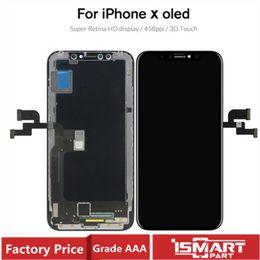 novas peças para telemóvel Desconto LCD para iPhone X XS XSMAX XR Display LCD com tela 3D Toque digitador OLED TFT Assembléia completa substituição LCD 100% testado Boa