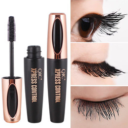 mascara faux cils Promotion MP002 4D Mascara Fibre De Soie Rimel Maquillage Noir Mascara Allongement Étanche Volume Express Faux Cils