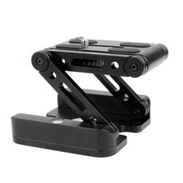 Tripé inclinável on-line-Alumínio dobrável z flex tilt pan cabeça tripés de câmera placa de liberação rápida suporte da câmera m forma flex tilt cabeça para nikon