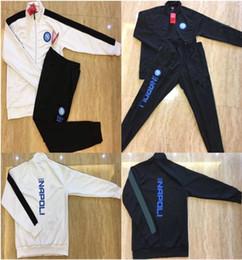 Calças jogging jersey on-line-Survetement Napoli jaqueta de treinamento terno 2018 2019 Nápoles HAMSIK L.INSIGNE veste futebol jogging treino de futebol jerseys calças compridas