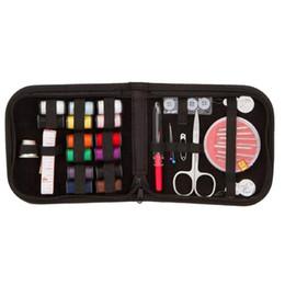 kit de costura tesoura Desconto Emendar kit de Costura Kit de viagem tamanho DIY Costura Suprimentos Organizador Artesanato Ferramentas Cheias de Tesoura Thimble Tópico Agulhas de Costura Fita Métrica