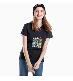 La camisa del patrón del gato online-Estilo europeo y americano diseño de moda tres modelos lindos con estampado de gato para mujer casual de manga corta camiseta tendencia diseño de marca de manga corta