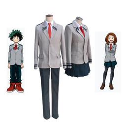Anime disfraces de animales online-Boku no Hero Academia AsuiTsuyu Yaoyorozu Momo Uniforme Escolar My Hero Academia OCHACO URARAKA Midoriya Izuku Anime Cosplay