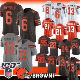 6 Baker Mayfield Cleveland 13 Odell Beckham Jr Browns Jersey 80 Jarvis Landry 95 Myles Garrett Nick Ward Chubb Joe Thomas Browns 80 21 27 95 ? partir de fabricateur