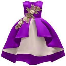 2019 Nouvel été tendances de la mode des filles s'habillent couture motif floral Enfants européens et américains s'habillent robe de princesse ? partir de fabricateur