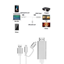 Adaptador av digital online-Adaptador de cable de iPad a HDMI, adaptador AV AV digital de iPhone Micro USB a HDMI 1080P HDTV Cable para iPhone XS Max / XR