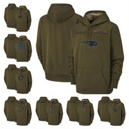 Titã hoodie on-line-Seahawks Cowboys Patriot Philadelphia Oakland Titan Raider Eagles Redskin Steeler Jets Olive Salute to Serviço pulôver