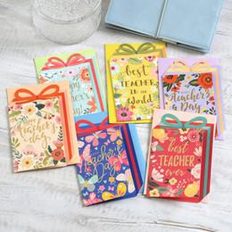 Cajas de tarjetas de felicitación online-Eno Greeting tarjetas de mensaje en forma de caja de regalo para el maestro tarjetas de flores de buena calidad para maestros