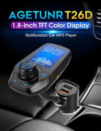 2019 entrada aux para carro T26D Novo Carro MP3 Bluetooth Transmissor FM com Dual USB QC3.0 porto de carregamento Rápido Car Music Player Suporte USB TF Cartão de Entrada AUX entrada aux para carro barato