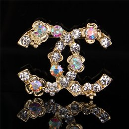 women lapel pin Coupons - New Luxury Corlorful Crystal Enamel Brooch Women Famous Designer Costume Suit Brooches Lapel Pin Party Wedding Jewelry Accessories