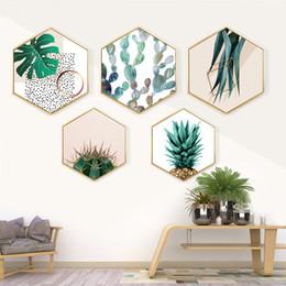 2019 decoração de arte tropical Lona de arte da parede Cartaz e Impressão Tropical Gráfico Pintura Abstrata Minimalista Decoração Nordic Pictures Modern Home Decor decoração de arte tropical barato