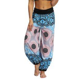 KLV 2019 Yoga Pantaloni Donna Pantaloni da corsa Collant per le donne Pantaloni larghi Yoga Baggy Boho Aladdin Tuta Harem 517 # 1032817 da
