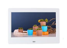 7 inç Dijital Fotoğraf Çerçeveleri 800 * 480 TFT LCD Geniş Ekran Masaüstü Dijital Fotoğraf Çerçevesi cam Fotoğraf Çerçevesi perakende paketi ile DHL ücretsiz kargo nereden