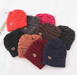 Luxury C Hats Winter Knitted Wool Caps Label Warm Skullies Beanies Unisex  Adult Casual Hat Sport Casual Cap 17 Colors Women Men free size 7e5c0f1c02bb