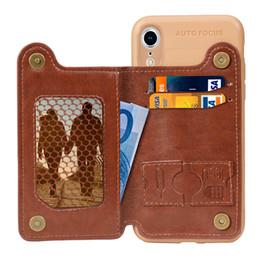 2019 slim cases pour iphone Coque en TPU souple et mince avec pochette en cuir pour Galaxy S10 S10e S9 J4 J6 A6 2018 Iphone XR XS MAX X 8 7 6 promotion slim cases pour iphone
