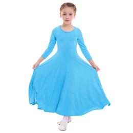 2019 nuevos niños niñas vestido de alabanza de manga larga plisado columpio largo iglesia litúrgico desgaste desgaste desgaste niños niñas ballet dress desde fabricantes