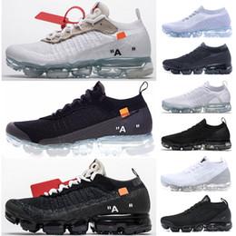 2019 voar fora Clássico Off-W Voar 1.0 2.0 3.0 Malha Sapatos Femininos HomensMulheres Triplo Branco Preto Cinza Treinador de Tricô Designer de Moda Tênis Tamanho36-45 voar fora barato