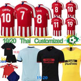 Jersey diego costa online-19 20 JOAO FELIX Atletico Madrid Fußballjersey 19 20 Kids Männer Baby camiseta de fútbol M.LLORENTE MORATA SAUL KOKE DIEGO COSTA Shirts